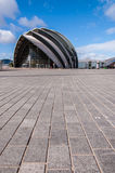 SECC展览会的看法。格拉斯哥 免版税图库摄影