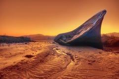 In secca alla marea bassa. Immagini Stock