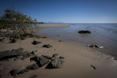 Secche scoperte a bassa marea ad Yule Point Fotografia Stock