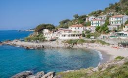 Seccheto,Elba Island,Italy. The idyllic Village of Seccheto on elba island,tuscany,italy stock images