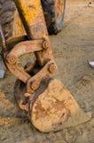 Secchi dell'escavatore a cucchiaia rovescia Fotografia Stock