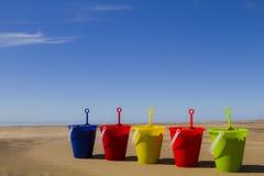 Secchi della sabbia Immagini Stock