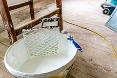 Secchio bianco 02 di colore immagine stock libera da diritti