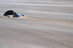 Secchio coperto di sabbia Può essere usato come fondo Immagine Stock