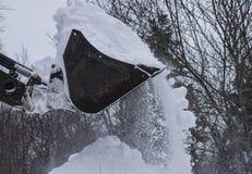 Secchio del trattore di inverno Fotografia Stock Libera da Diritti