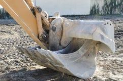Secchio dell'escavatore a cucchiaia rovescia Fotografie Stock