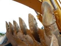 Secchio dell'escavatore a cucchiaia rovescia immagini stock