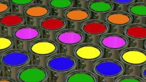 Secchio della pittura di colore loopable illustrazione di stock