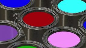 Secchio della pittura di colore loopable royalty illustrazione gratis