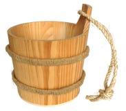 Secchio di legno immagini stock