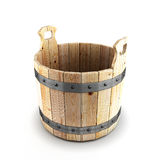 Secchio di legno per un bagno Fotografie Stock