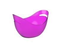 Secchio di plastica ovale isolato su fondo bianco, rappresentazione 3D Immagini Stock Libere da Diritti