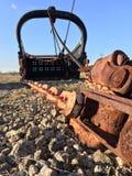 Secchio gigante della pala di estrazione mineraria fotografia stock