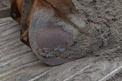 Secchio per l'escavatore Immagine Stock
