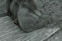 Secchio per l'escavatore Fotografie Stock