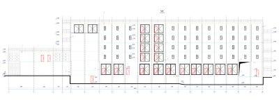 Sección arquitectónica stock de ilustración