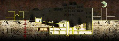 Sección arquitectónica Foto de archivo libre de regalías