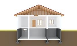 Sección de la casa