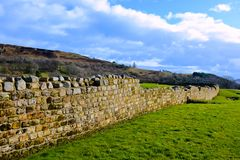 Sección de la pared de Hadrian Imágenes de archivo libres de regalías