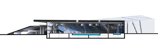 sección de la representación 3D del edificio Foto de archivo libre de regalías