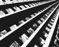 Sección de las pistas de ferrocarril Imagen de archivo
