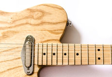 Sección del cuerpo de la guitarra eléctrica foto de archivo libre de regalías