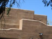 Sección del edificio del adobe, Santa Fe nanómetro fotografía de archivo