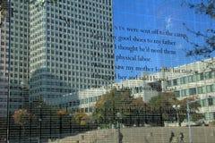 Sección del monumento del holocausto de WWII, Boston, Massachusetts, caída, 2013 Fotos de archivo