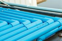 Sección del tubo del PVC del agua Fotos de archivo libres de regalías