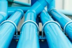 Sección del tubo del PVC del agua Fotos de archivo