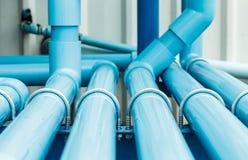 Sección del tubo del PVC del agua Foto de archivo libre de regalías