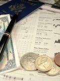 Sección financiera de la mañana Fotografía de archivo