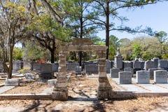 Sección judía de Bonaventure Cemetery histórico Imagen de archivo libre de regalías
