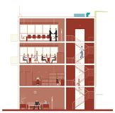 Sección representativa constructiva libre illustration