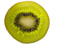 Sección representativa del kiwi, iluminada Fotografía de archivo libre de regalías
