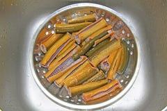 Sección sin aletas de la anguila lista para cocinar Imagen de archivo