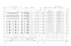 Secci?n constructiva de varios pisos, dibujo t?cnico arquitect?nico detallado, modelo del vector libre illustration