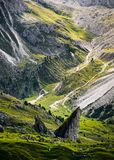 Seceda mountain in the Dolomites, South Tyrol, Italy, Europe stock photo