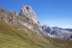 Seceda mountain in the Dolomites Royalty Free Stock Photography