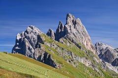 Seceda mountain in the Dolomites Stock Photos