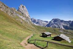 Seceda mountain in the Dolomites Royalty Free Stock Photo