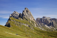 Seceda mountain in the Dolomites Stock Image