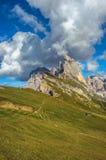 Secedapiek, Odle-bergketen, Gardena-Vallei, Dolomiet, Ita Stock Foto