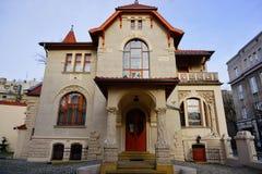 Secesi muzeum w Kindermana willi - Miejska galeria sztuki w Łódzkim Fotografia Stock