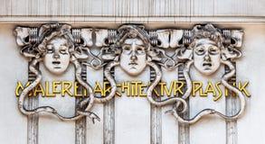 Secession architecturale de peinture de sculpture images stock