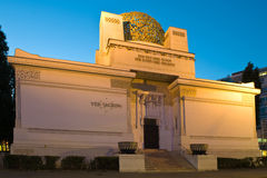 Secession Building Vienna at night Royalty Free Stock Photography