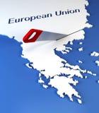 Secession de la Grèce d'Union européenne Photos libres de droits