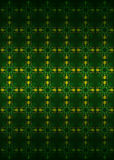 Secession floral yellow blossom pattern dark vector. Illustration Royalty Free Stock Image