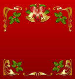 Secession frame. Christmas vintage frame in secession style Royalty Free Stock Image