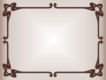 Secession style. Secession decorative style for table mat Royalty Free Stock Photo